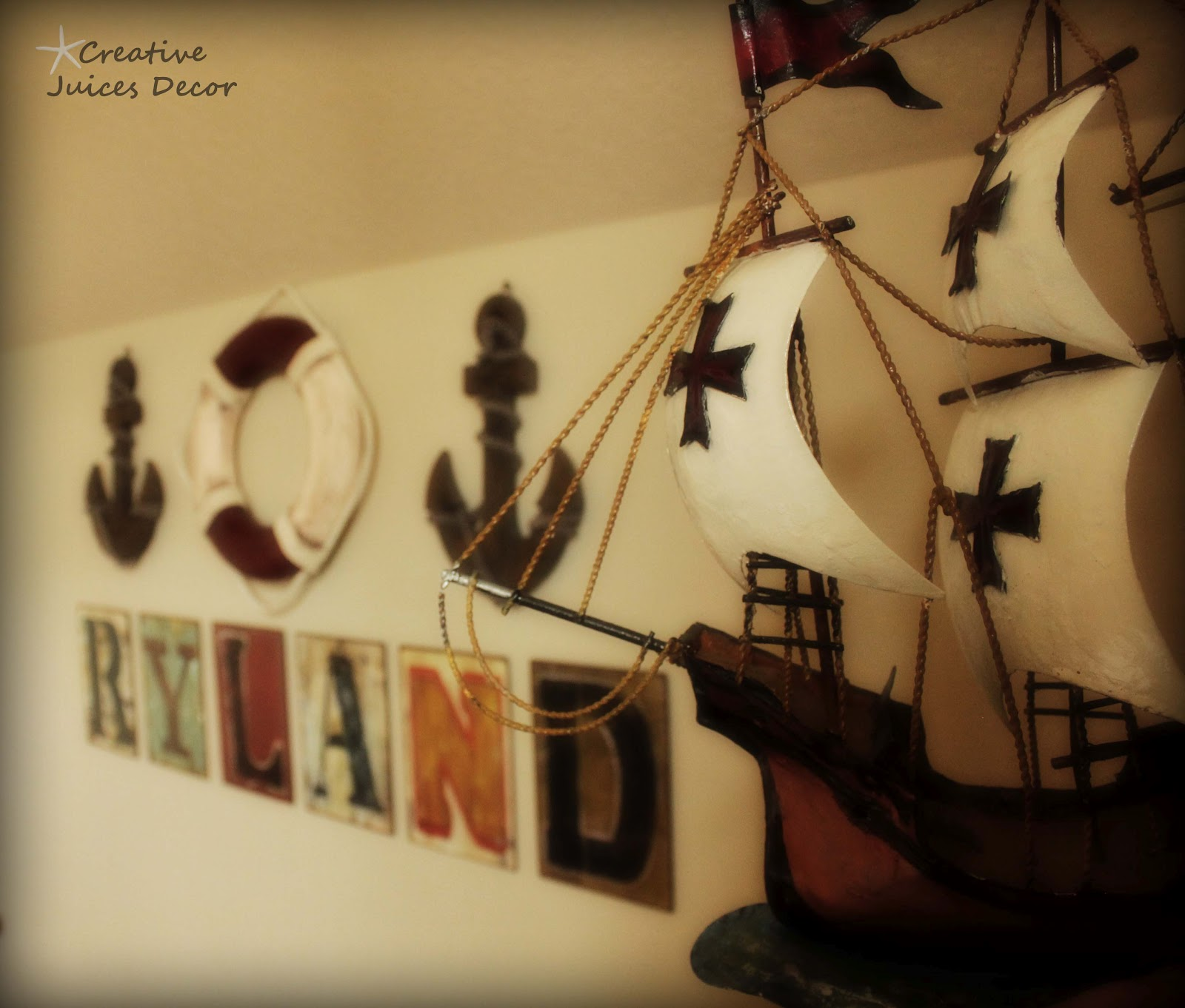 Awesome Pirate Themed Wall Decor Composition - Wall Art Collections ...
