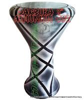 Dumbuk Batu atau Darbuka bahan utama Almunium Cor
