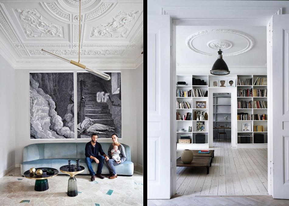 papier peint imitation moulure. Black Bedroom Furniture Sets. Home Design Ideas