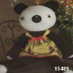 patron gratis oso panda amigurumi