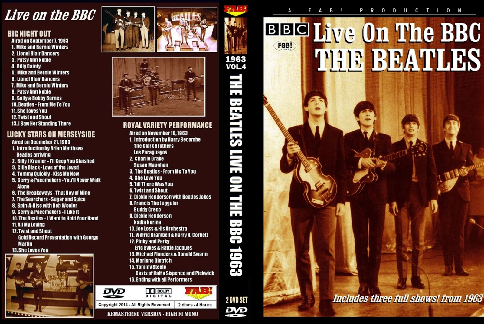 The Beatles - Live On The BBC 1963 DVD