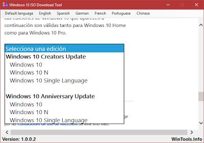 Descargar las ISO de Windows 10