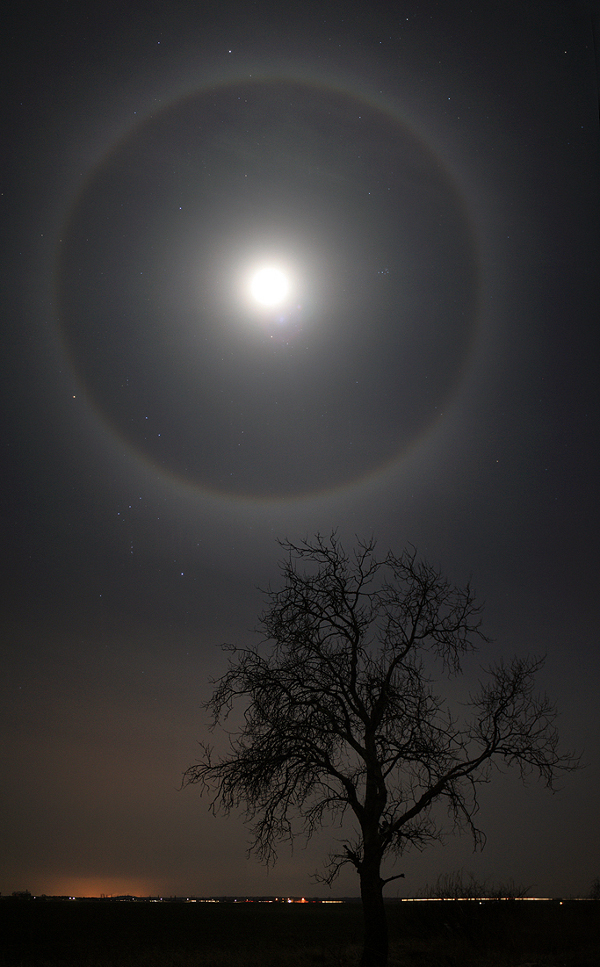 A Halo Around the Moon