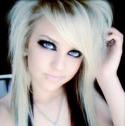 Terrific Blonde Emo Hairstyles For Girls Hairstyles Haircuts Short Hairstyles Gunalazisus