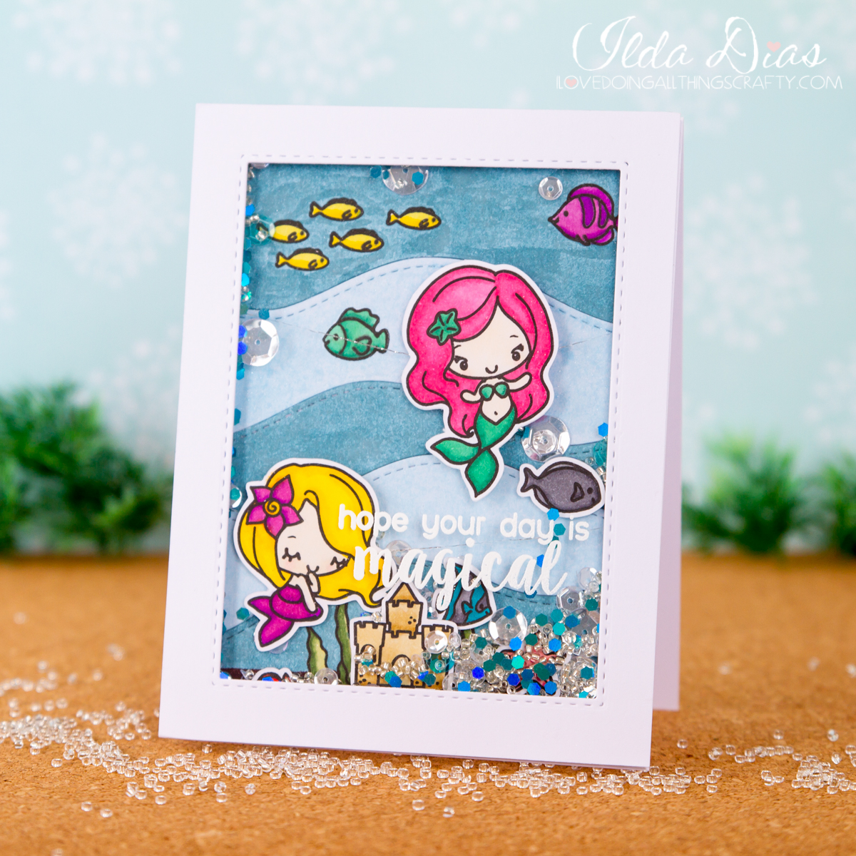 I Love Doing All Things Crafty Under The Sea Shaker Cards Featuring