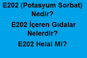 E202 (Potasyum Sorbat) Nedir? E202 İçeren Gıdalar Nelerdir? E202 Helal Mi?