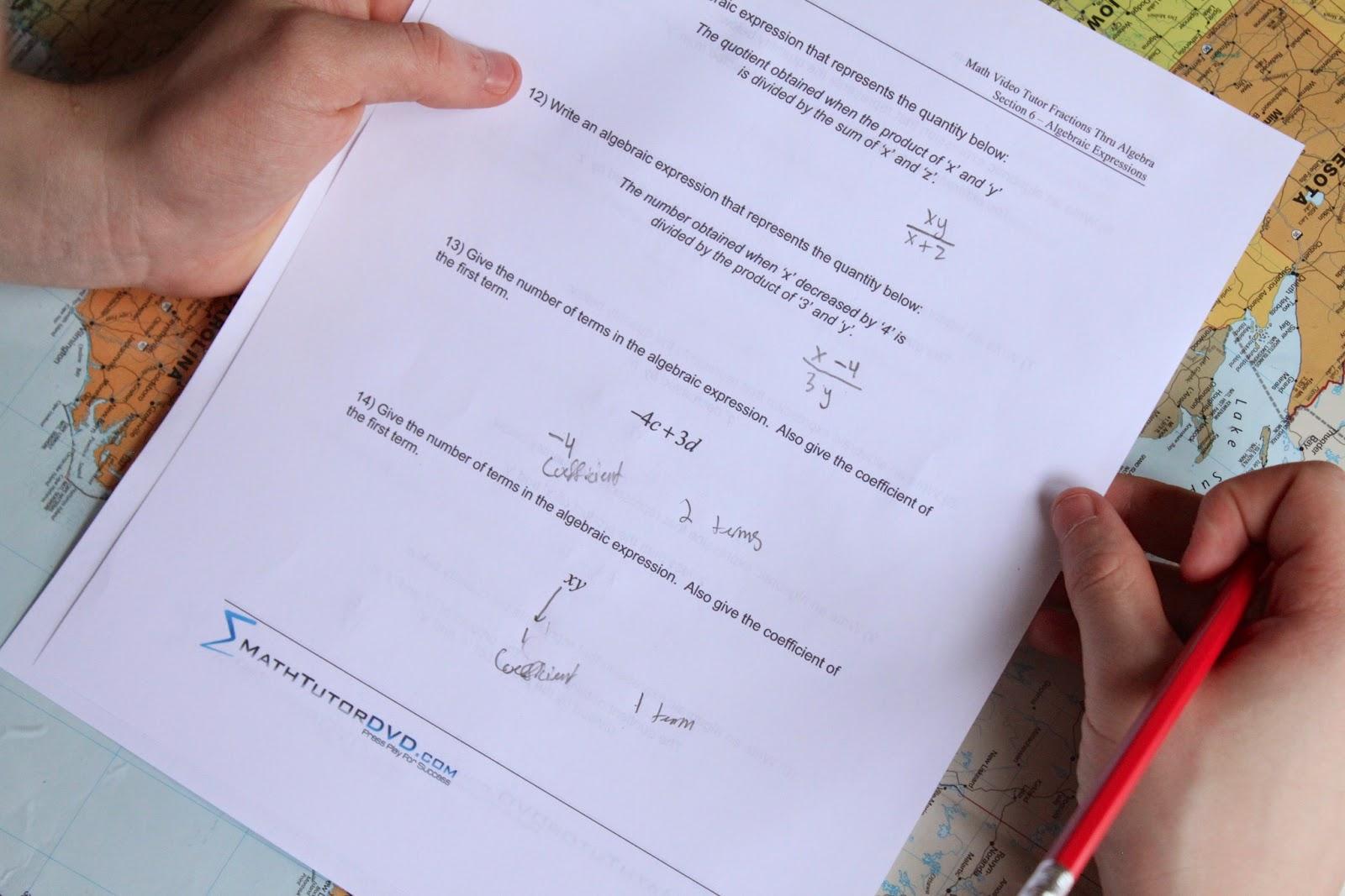 Scienceandmath The Algebra 1 Tutor Review