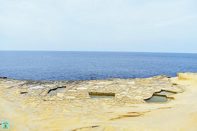 Salinas Qbajjar, isla de Gozo (Malta)