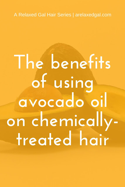 See the benefits of using avocado oil on relaxed hair and how it can be used. | arelaxedgal.com