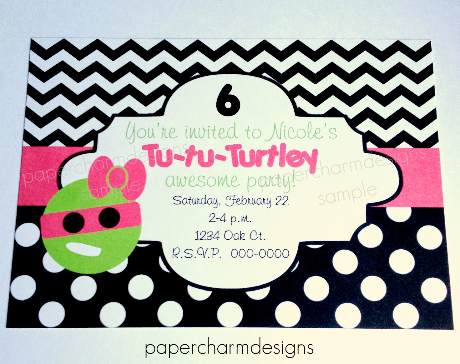 Papercharm Girls Tutus And Turtle Ninja Party Theme