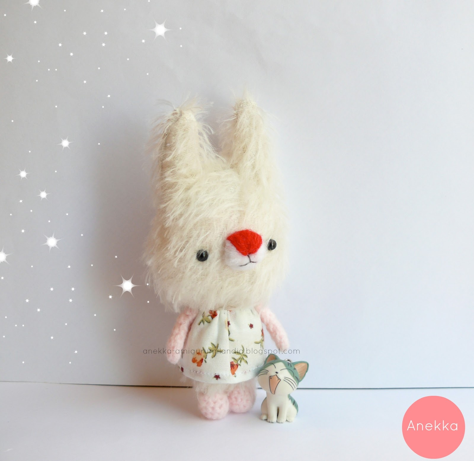 plush doll mohair amigurumi miniature