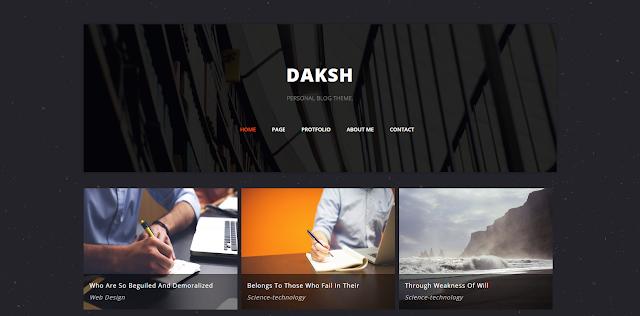 Daksh Personal Blog Template
