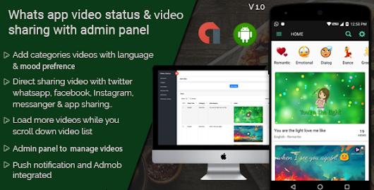 Download WhatsApp video status & video sharing with admin panel android application