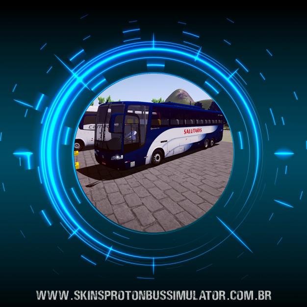 Skin Proton Bus Simulator Road - Vissta Buss HI O-500 RSD Viação Salutaris