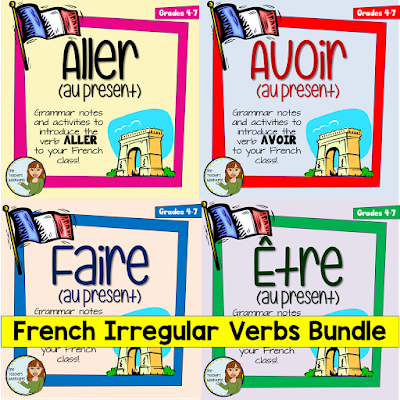 https://www.teacherspayteachers.com/Product/French-Irregular-Verbs-Bundle-Aller-Avoir-Etre-and-Faire-2997656