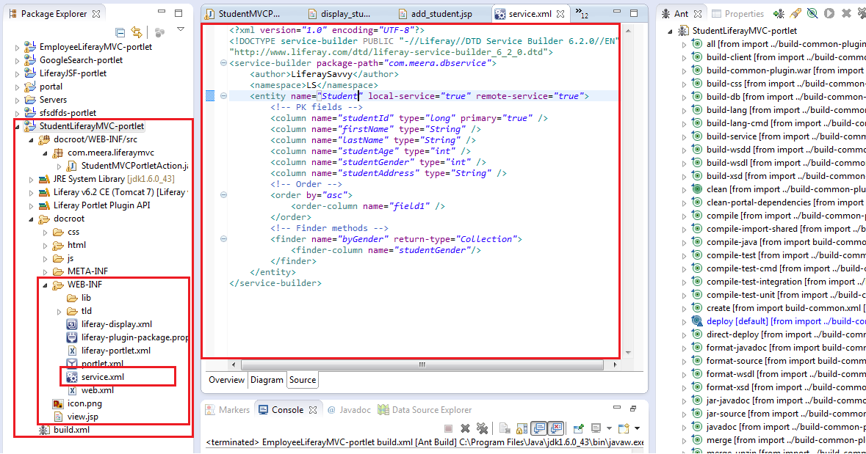 Liferay MVC Portlet Database Interactions / Liferay MVC CRUD