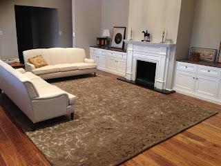 Custom Hand-tufted rug in wool and silk