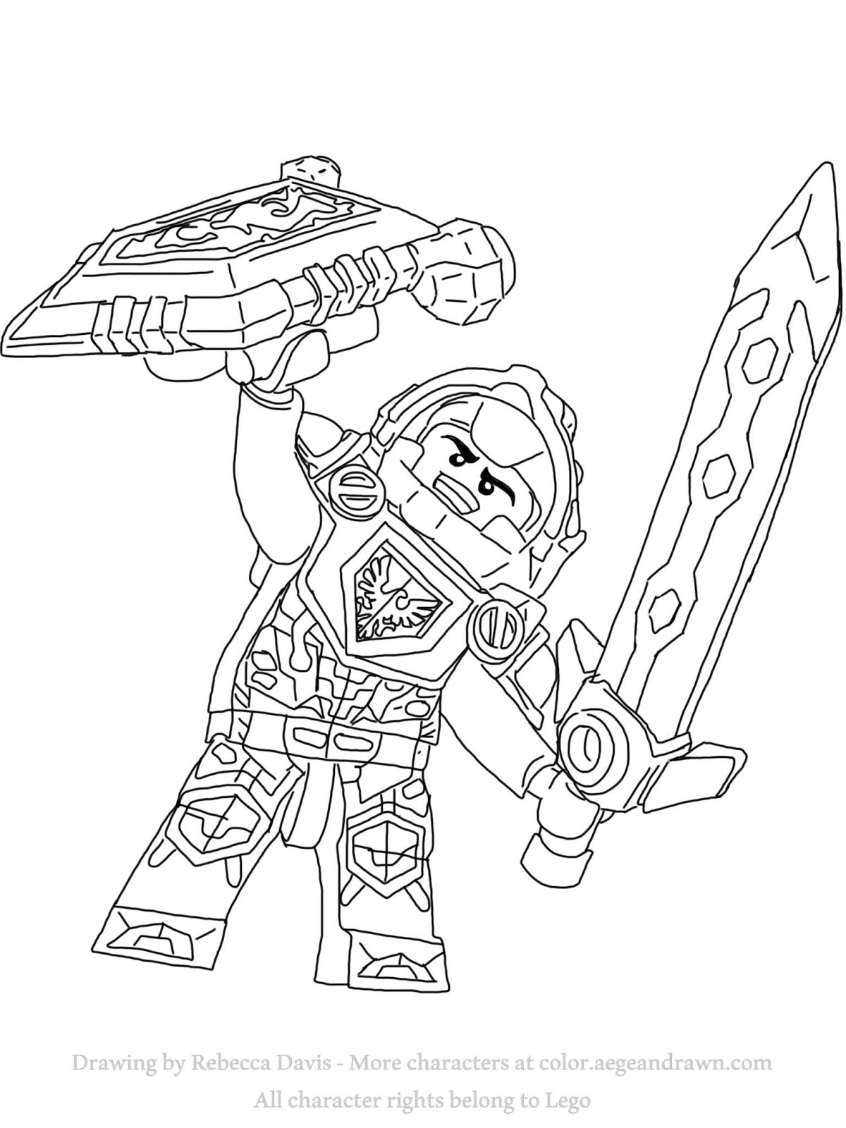 nexo knights coloring pages aegean drawn