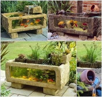 model kolam ikan mini pengshias rumah - dunia akuarium