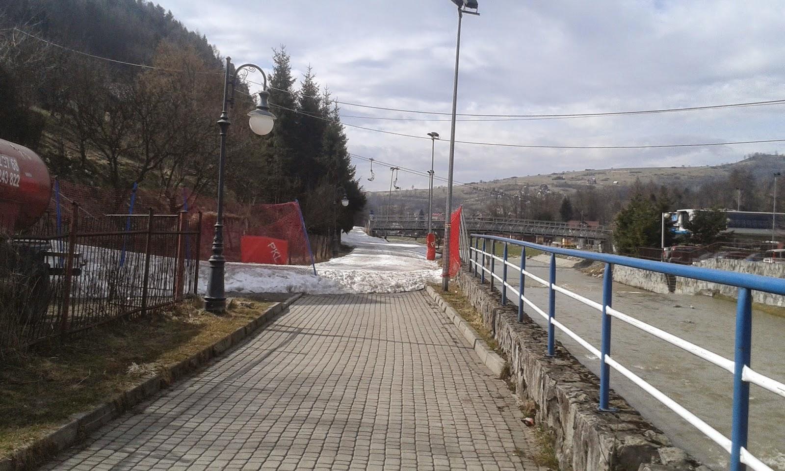 Początek trasy rowerowej w Szczawnicy