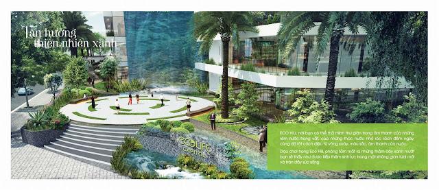 thác nước tràn tại Ecolife Capitol