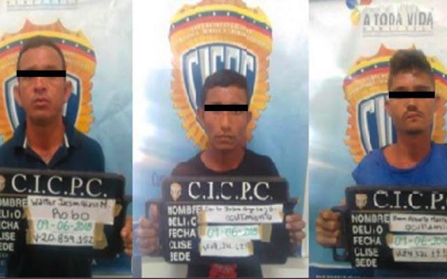 Capturados tres atracadores en Maracaibo - Qué raro que no los mataron como acostumbran!
