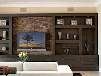 living room wall units modern