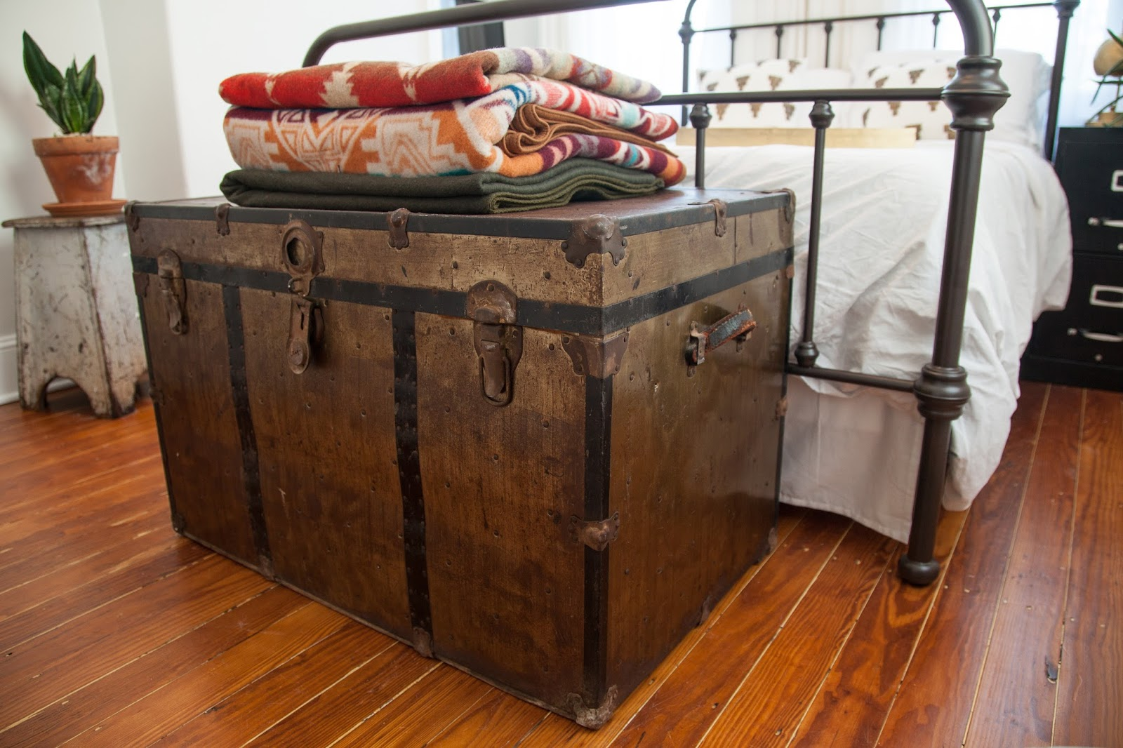 DIY Restoring a Vintage Brass Trunk