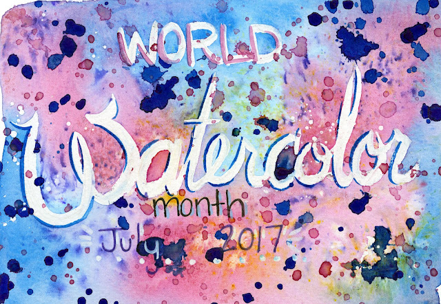 world watercolor month, watercolor