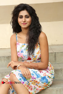 Actress Shamili Stills in Floral Short Dress at Sree Ramaraksha Song Launch 0142