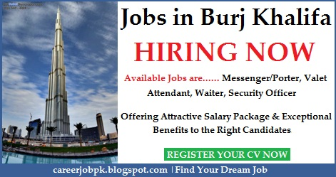 Jobs in Burj Khalifa Dubai