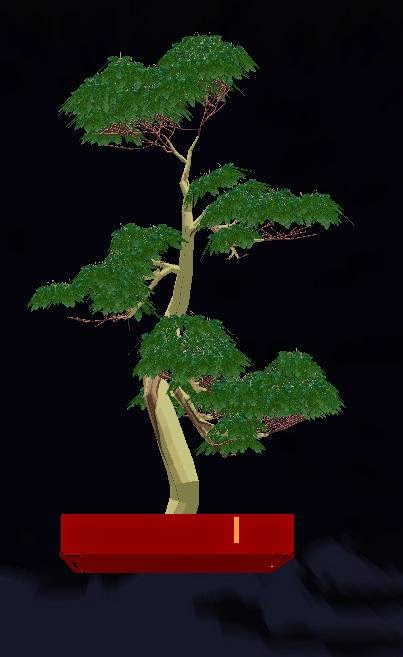 Bonsai Virtual creado con virtualbonsai software