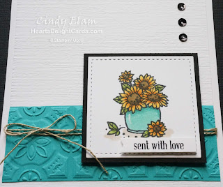 Heart's Delight Cards, Many Blessings, Sunflowers, Stampin' Up! Holiday 2018