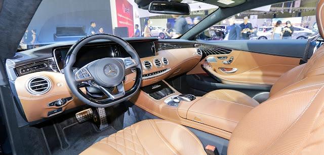 Từng chi tiết nội thất Mercedes S400 4MATIC Coupe 2017 được làm từ các chất liệu cao cấp và hàng đầu thế giới hiện nay