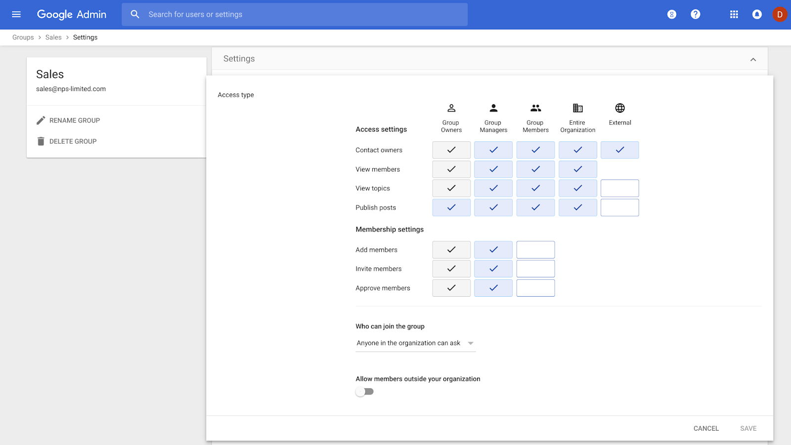 G Suite Updates Blog: Better group management in the G Suite Admin