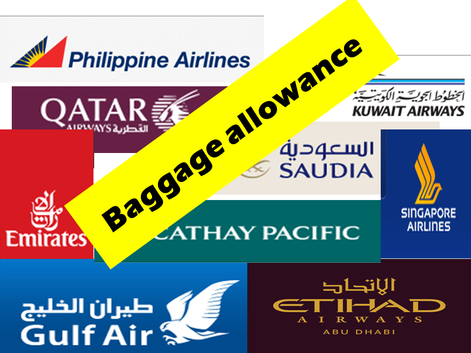 Baggage Allowance of 10 Major Airlines from Saudi Arabia to Asia ...