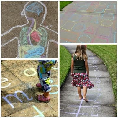 Summer Sidewalk Chalk Ideas for Kids