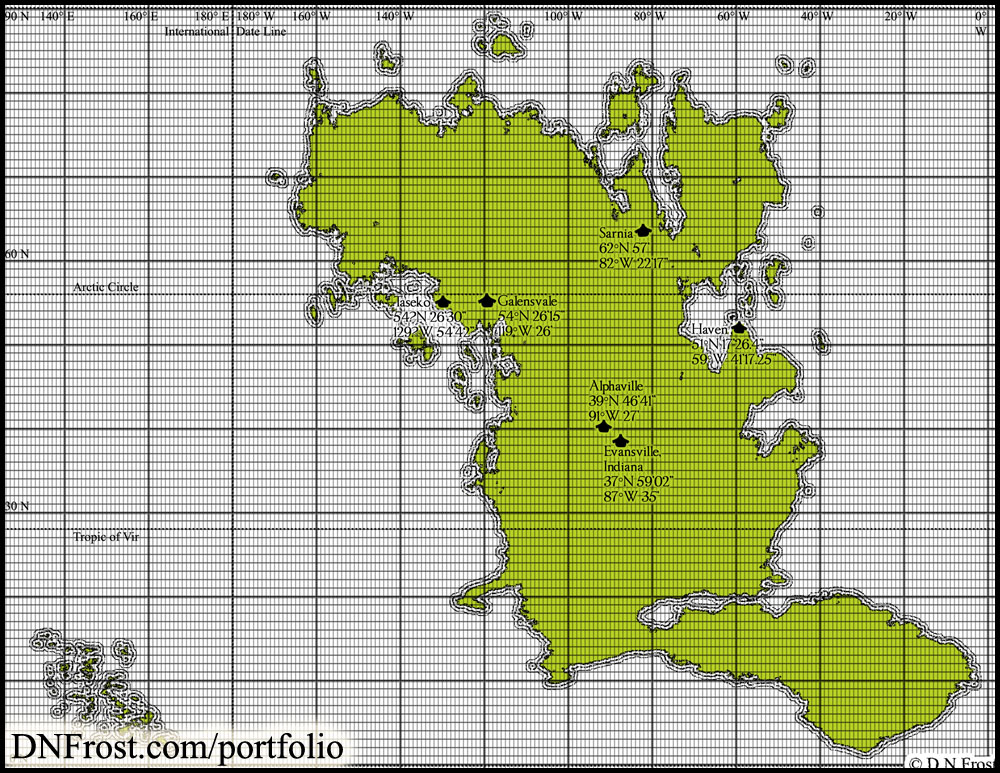 Image from Towns of Babylon: mountains, lakes, and plotting coordinates http://www.dnfrost.com/2015/05/sheridans-towns-map-commission.html A map commission by D.N.Frost for Stephen Everett @DNFrost13 Part 3 of a series.