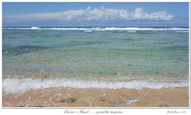Larsen's Beach: ... crystalline turquoise...
