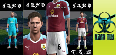 PES 2013 Burnley FC Home and GoalKeeper Kit 2016-2017 By KIMO T.L.B 19
