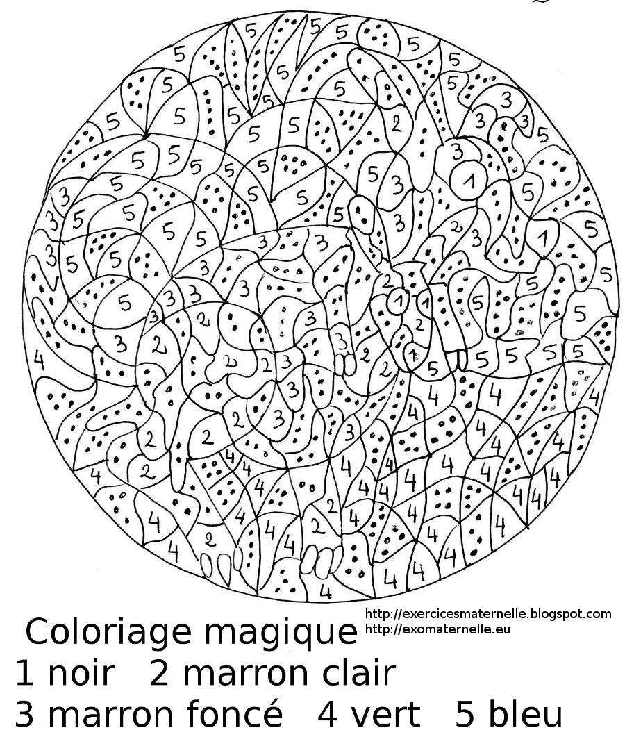 coloriage magique maternelle  Liberate