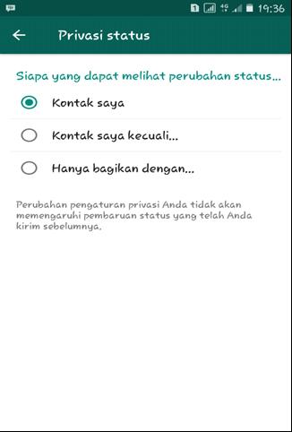Perubahan Status Whatsapp