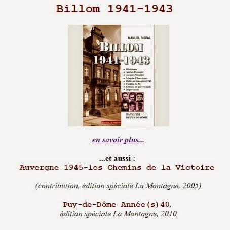 BILLOM 1941-1943 par Manuel Rispal, historien de terrain