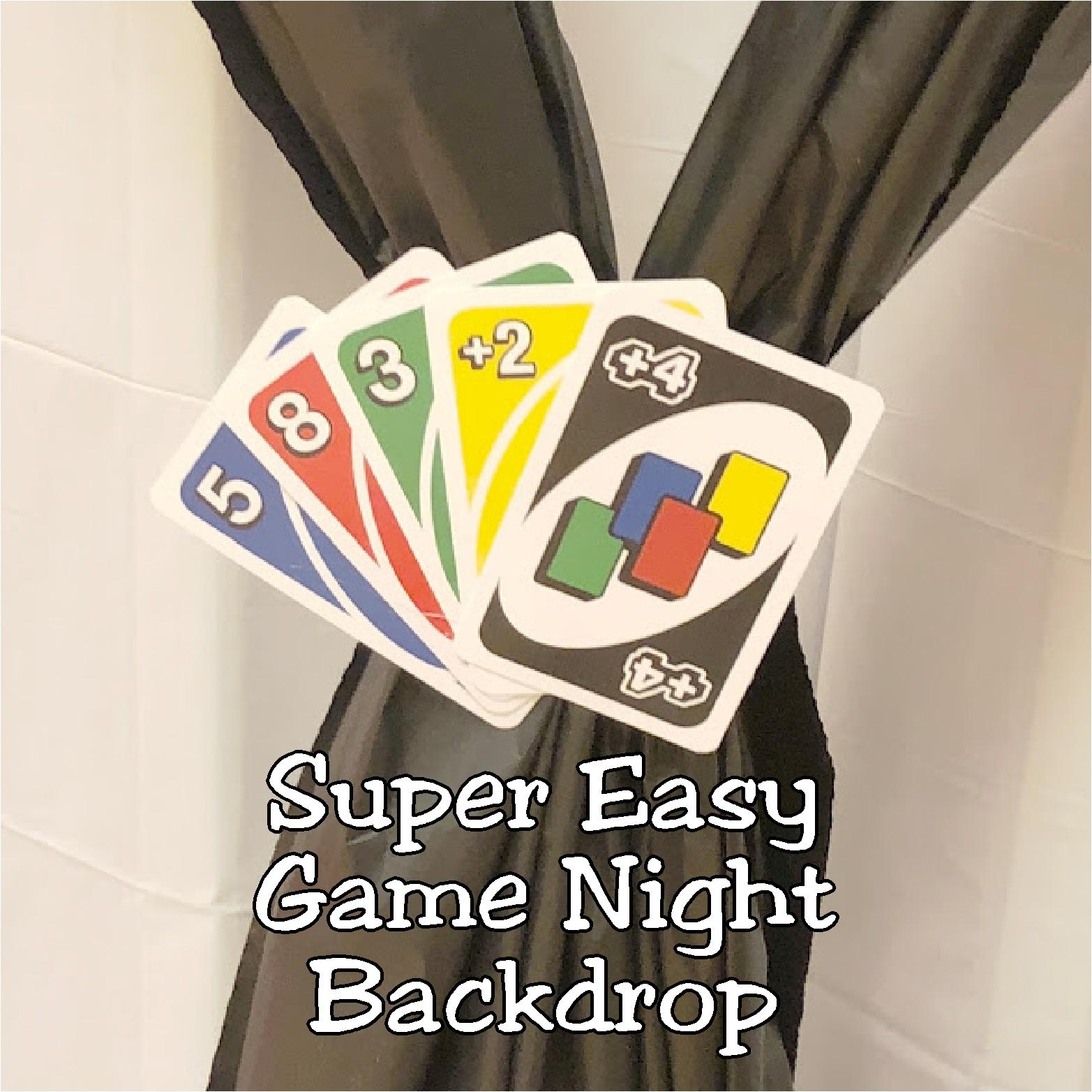 super easy game night backdrop  diy party mom