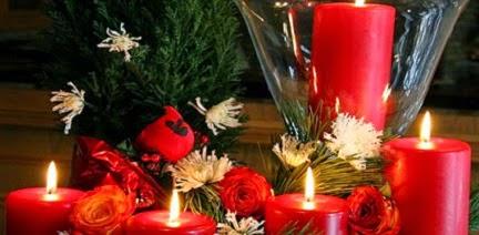 Mi casa mi hogar centros de mesa con velas navidad 2014 for Centros navidenos con velas