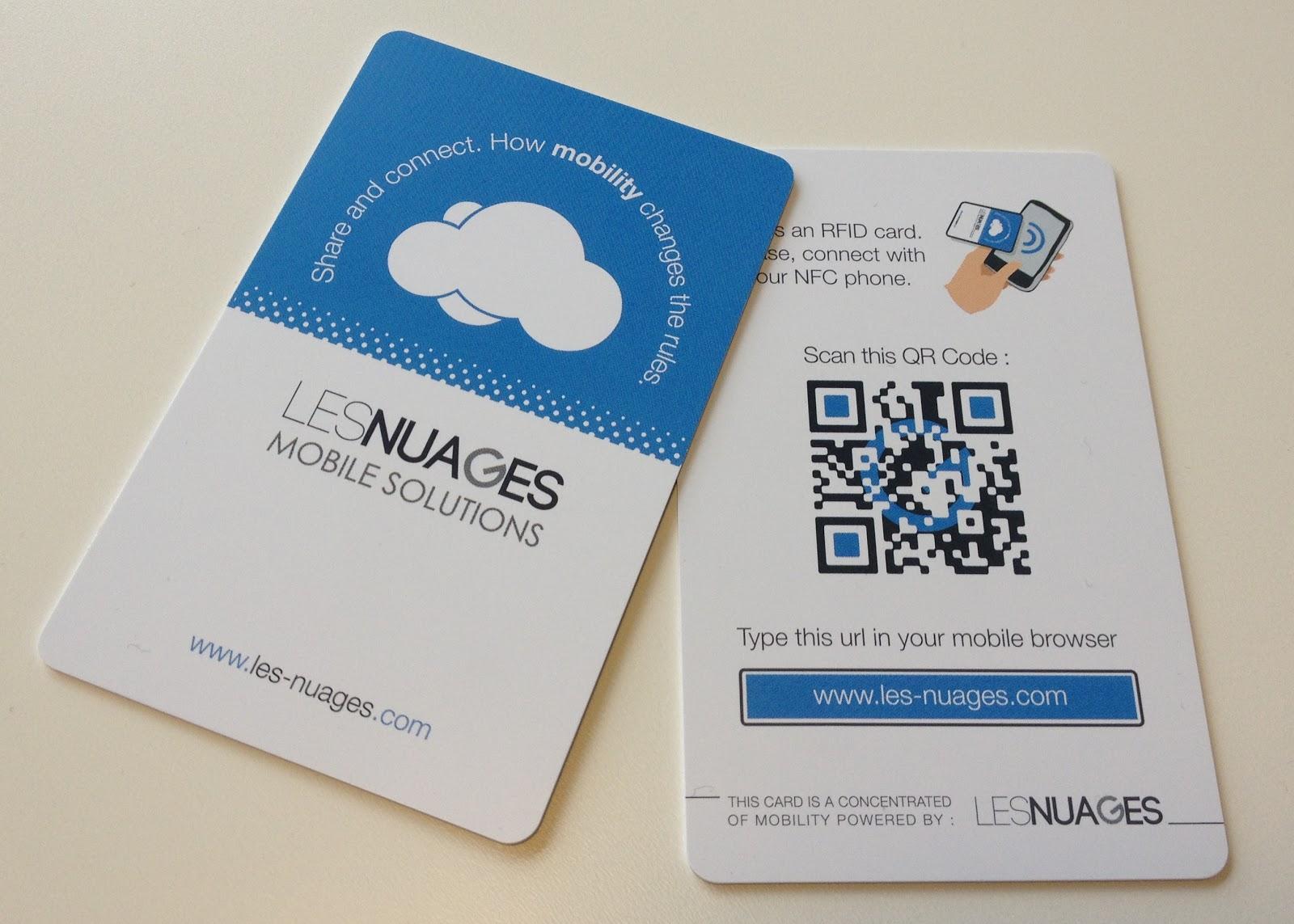 carte de visite nfc Le blog Marketing mobile de Nexence: Nexence élargi sa gamme de