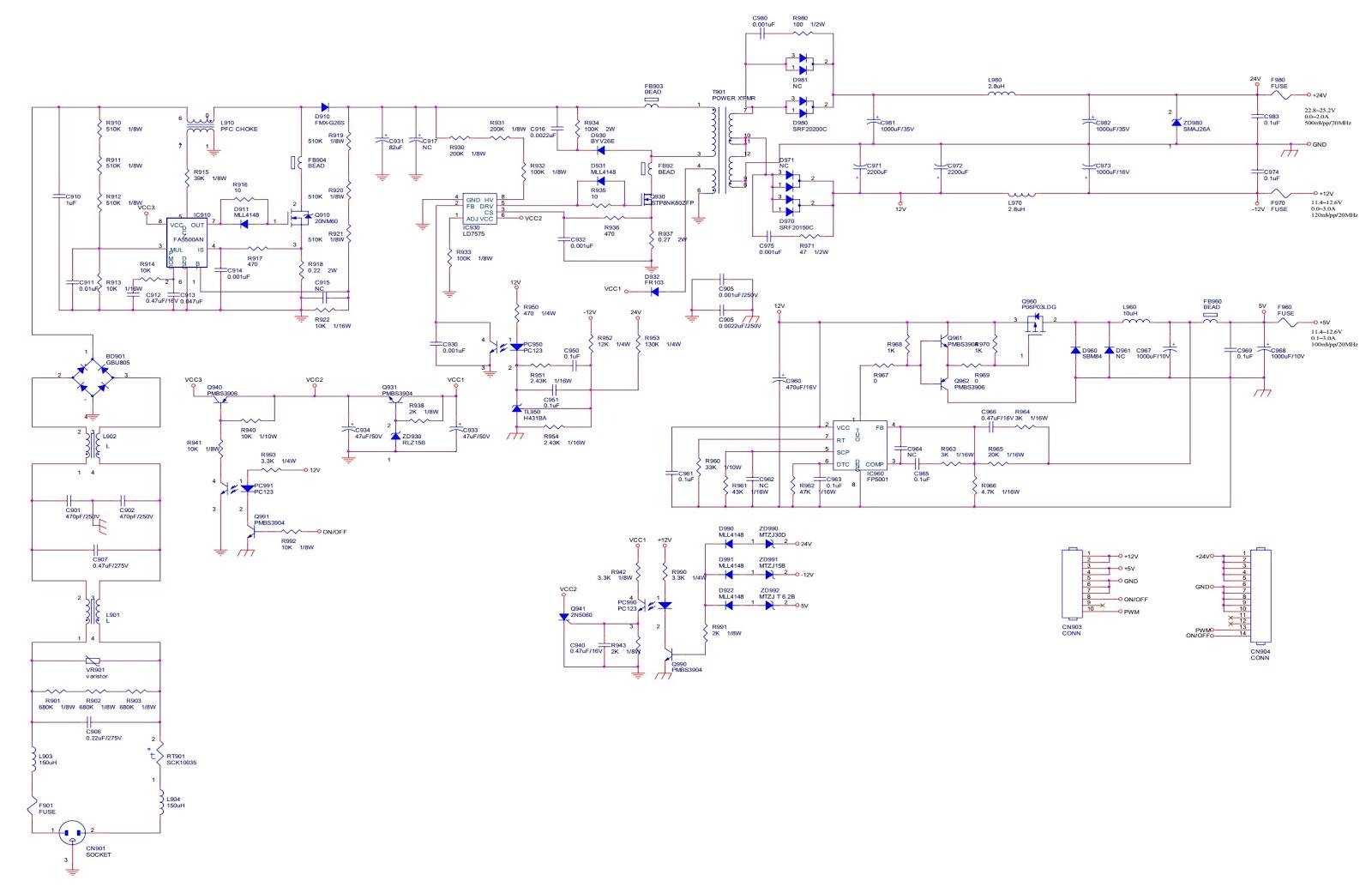 Electro Help  Viewsonic N2060w Power Board 715t 1599