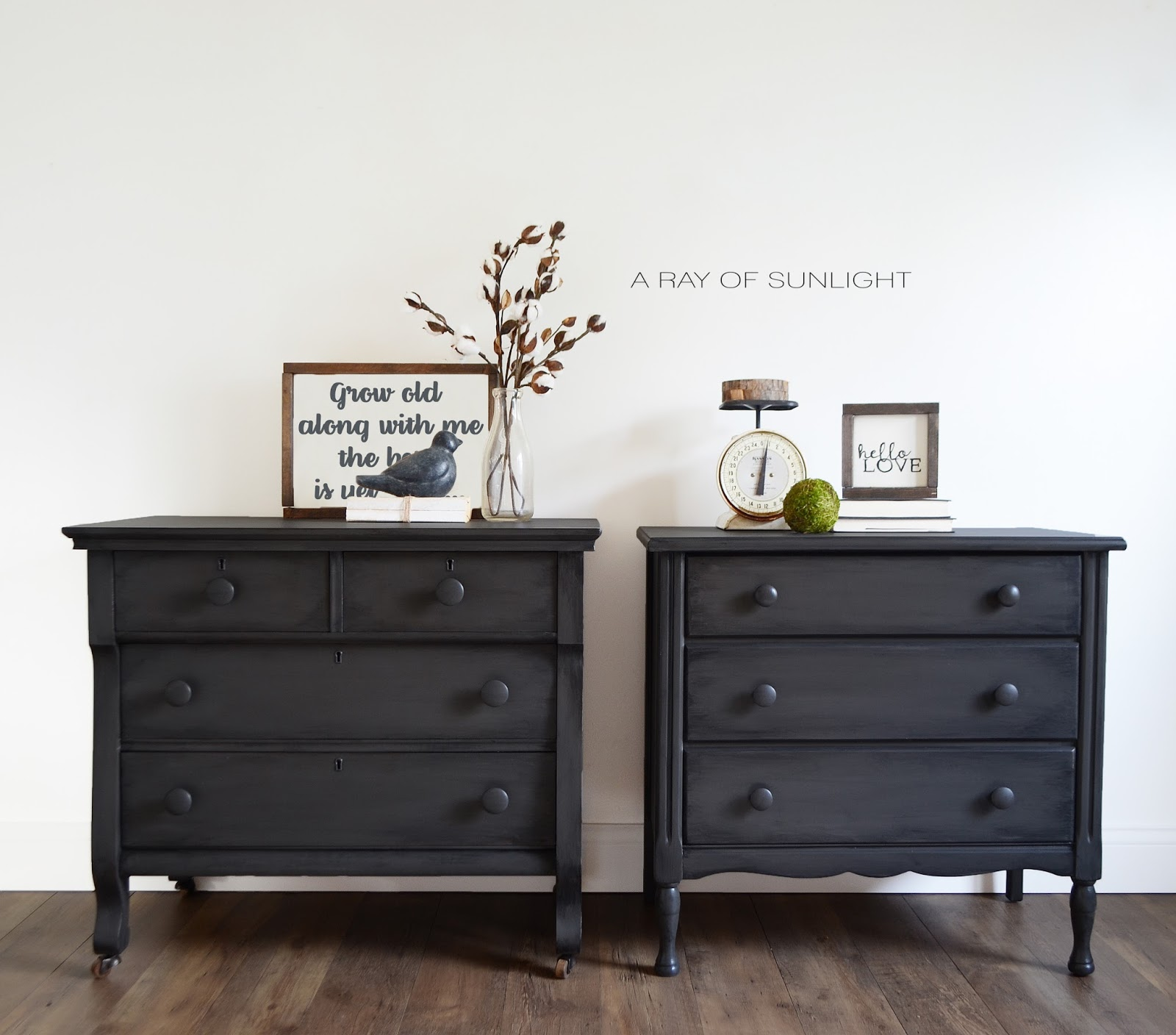 A Ray of Sunlight His and Hers Nightstands