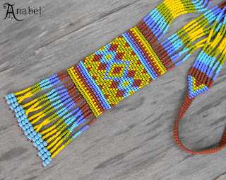 купить изделия из бисера в этно стиле гердан длинные серьги цена