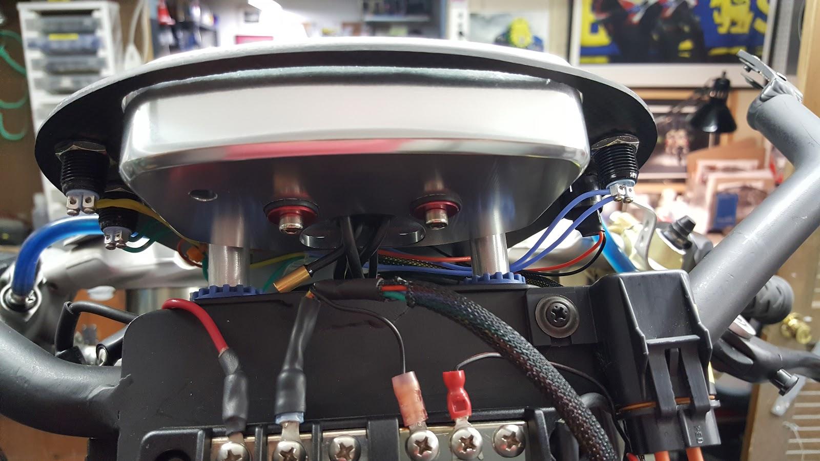 Kbike Slipper Clutch Install Bitsa Bike Ducati 848 Evo Fuse Box Battery Block Relays Voltage Regulatordash Wiring And Lights
